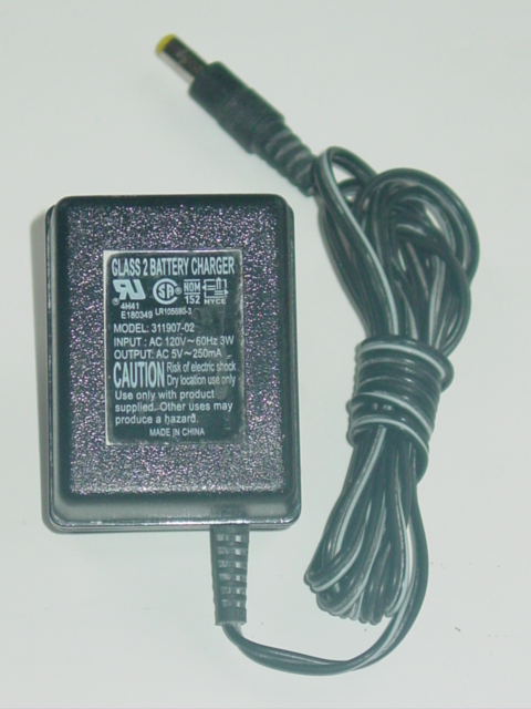 NEW 311907-02 Battery Charger AC Adapter 5VAC 250mA 31190702