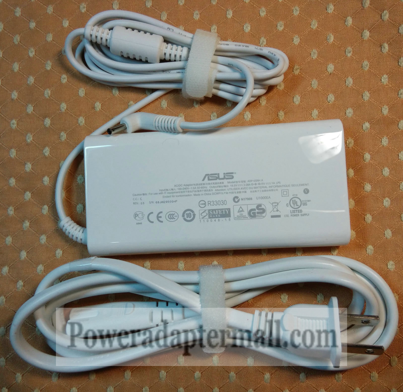 genuine 19.5V 3.08A Asus Eee EP121-1A009M ADP-65NH A AC Adapter