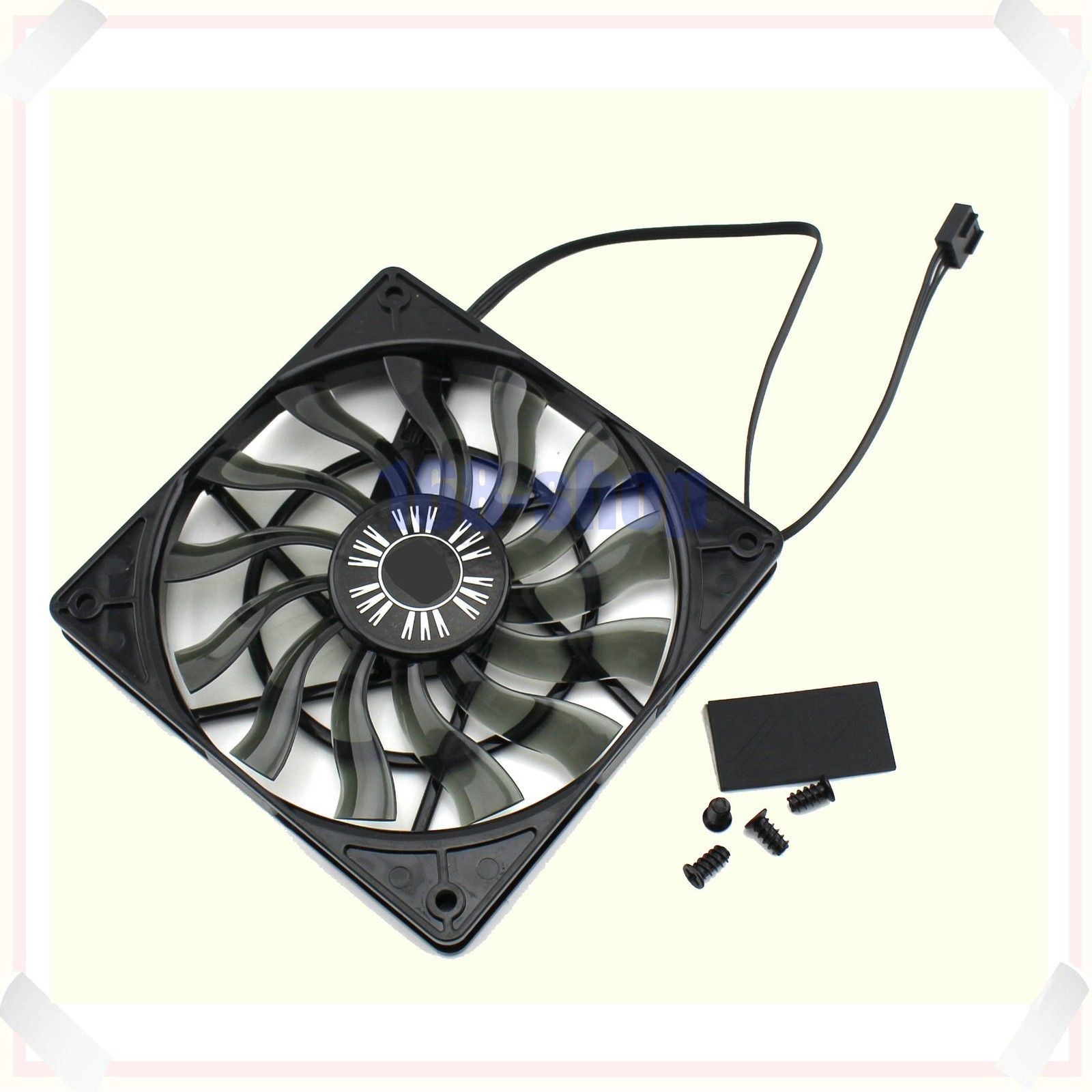 For CoolerMaster XtraFlo 120 Slim 120x120x15mm 4-pin PWM Case Fan 12cm Spare