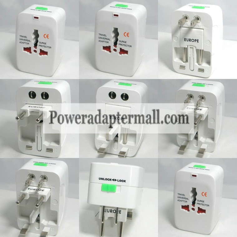Insten Universal World Wide Charger Adapter Plug for US UK EU AU