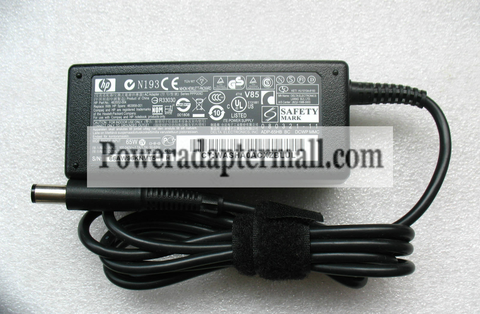 18.5V 3.5A HP Compaq tc4200 tc4400 Tablet PC Laptop AC Adapter