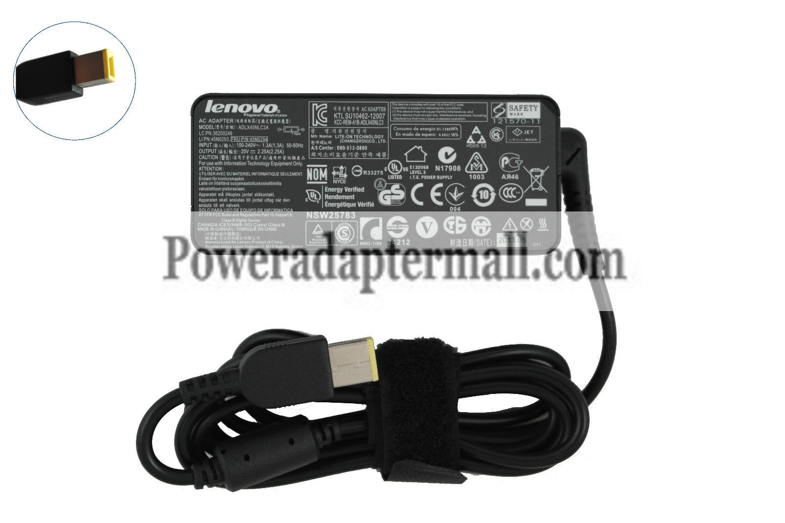 Genuine 20V 2.25A lenovo 0C19880 ADLX45NLC3 36200246 AC Adapter