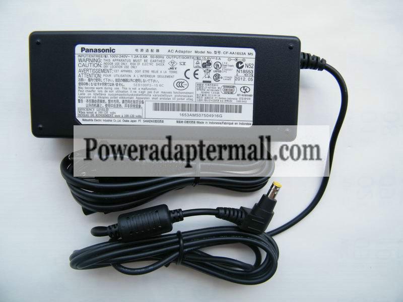15.6V 5A Panasonic CF-SX1 W7 W8 W9 AC Adapter Power Supply