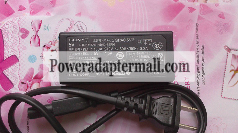 5V 1.5A Sony SGPT121IT SGPT131IT SGPAC5V6 AC Adapter power
