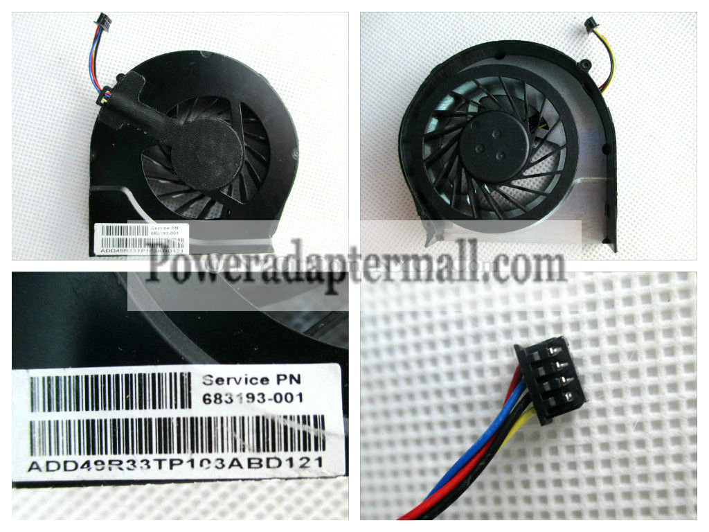 HP PAVILION G7-2000 CPU COOLING FAN 683193-001 4 wires