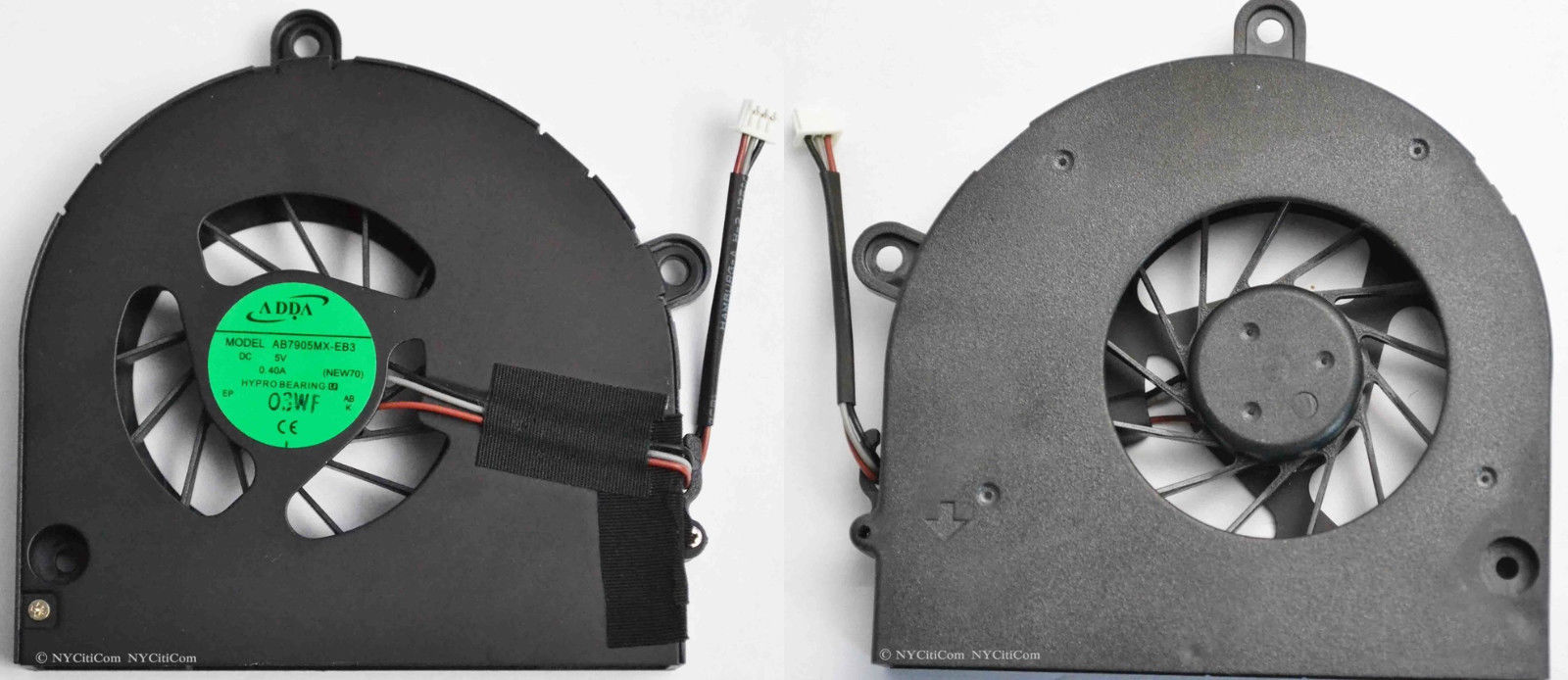 Brand New Adda CPU Fan For Toshiba C660 C665 C655 C650 Black 3 wires / pins