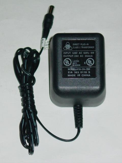 41A-24-350 AC Adapter 24VAC 350mA