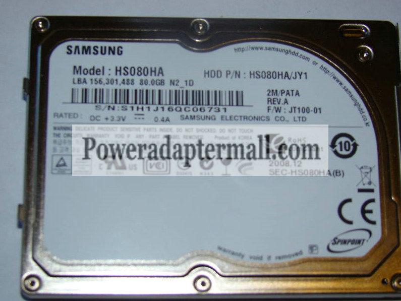 "1.8"" 60GB Samsung HS061HA PATA/ZIF ATA-100 hard drive 4200RP"