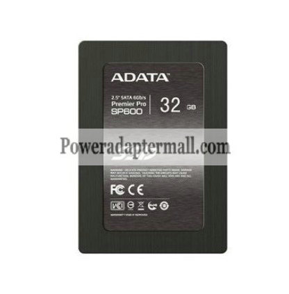 New AData Premier Pro SP600 32GB SSD SATA3 AS592S-32GM-C 6Gb/