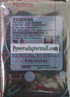 Toshiba MQ01ABF032 320GB 5400RPM SATA2/SATA 8MB Hard Drive