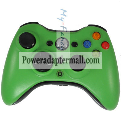 Green Wireless Remote Controller Glossy for Microsoft Xbox 360
