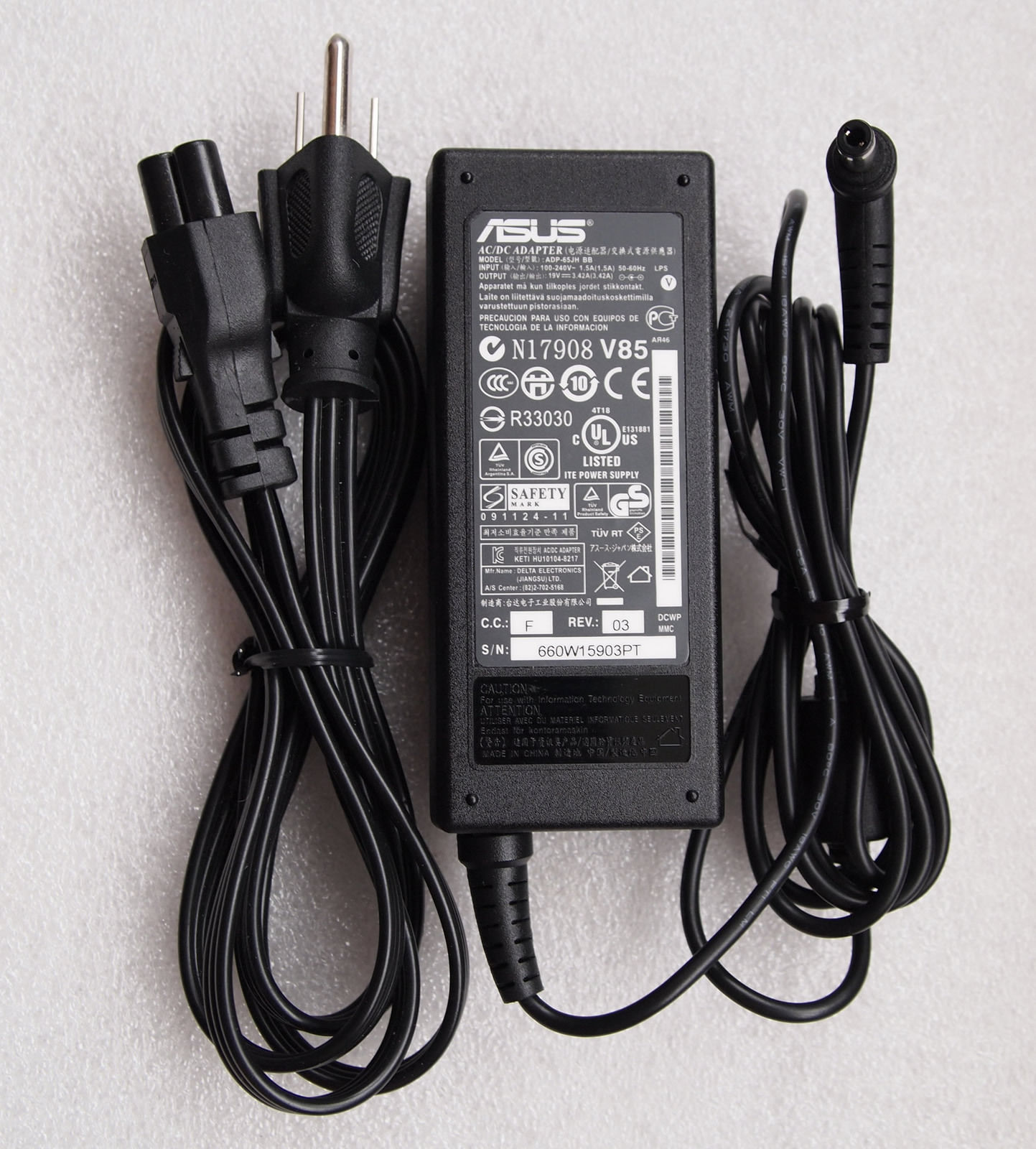 19V 3.42A AC/DC Adapter For ASUS R33030 N17908 V85 ADP-65JH
